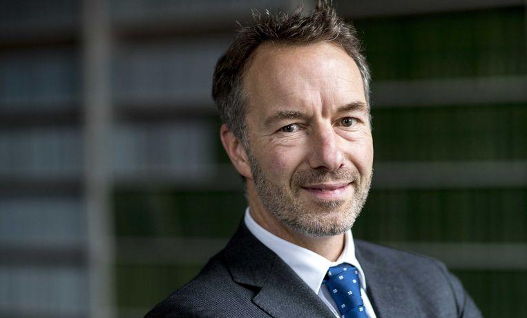 Portret van Wybren Van Haga, Tweede Kamer-lid voor de VVD. Beeld null