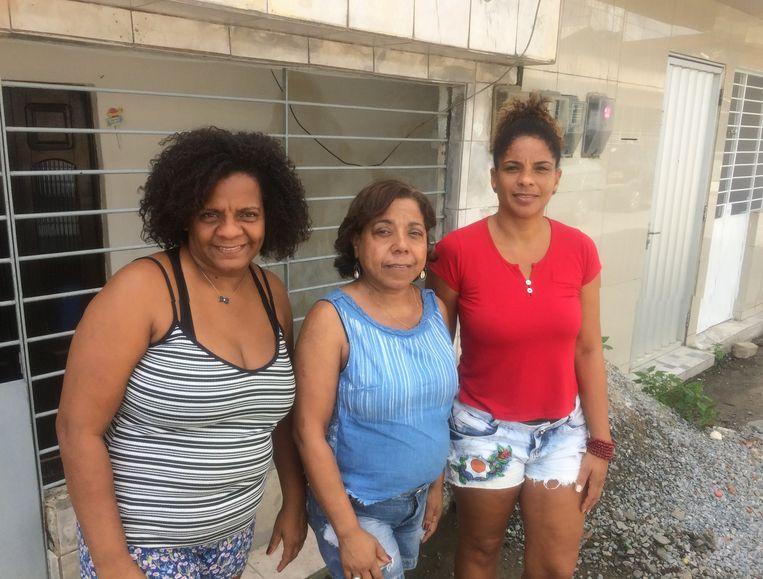 De zussen Luciana, Lucindalva en Lucilene. Beeld wies ubags