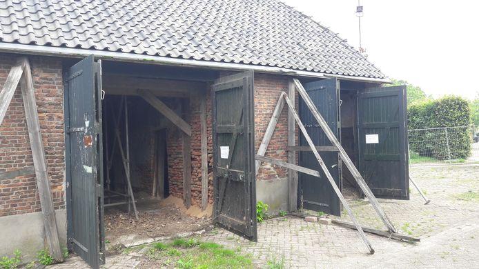 De schuur van de boerderij Jeroen Boschlaan 1 in Eindhoven, dit is de eigenlijke,  oudste boerderij van de stad, uit 1583.
