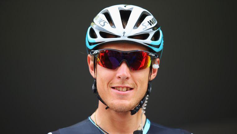 Matteo Trentin wint Parijs-Tours. Beeld getty