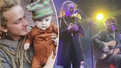 Vader die lied schreef voor overleden baby Foss, brengt hartverscheurend optreden tijdens Warmste Week