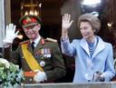 Groothertog Jean en zijn vrouw Josephine-Charlotte op een foto uit 2000. Zij overleed op 10 januari 2005 aan de gevolgen van kanker.