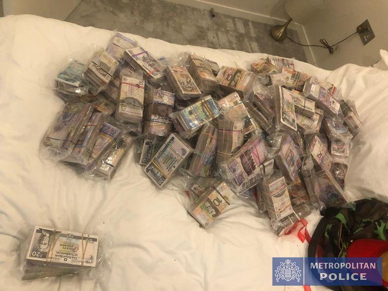 In beslag genomen geld. Beeld Metropolitan Police