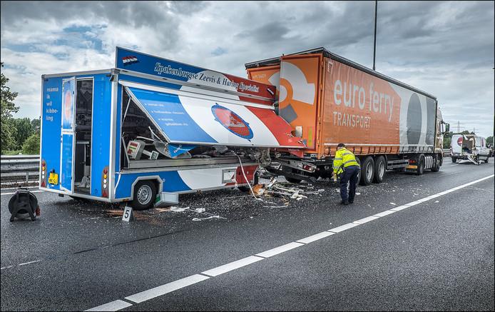 Eerder ongeluk op de A73 in de buurt van Cuijk.