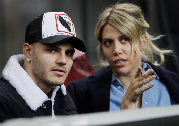 Mauro Icardi en zijn vrouw Wanda Nara