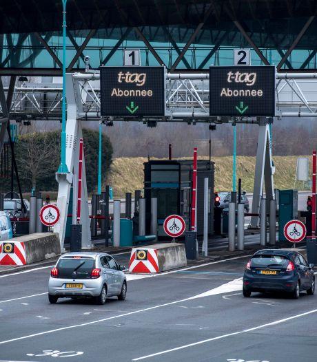 Door corona minder auto's door de tunnel, tarieven mogelijk omhoog