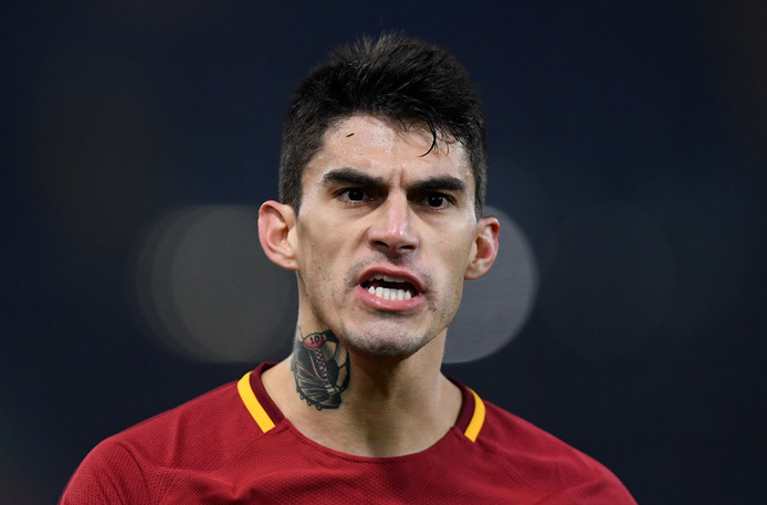 Soccer Football - Champions League - Roma vs Qarabag - Stadio Olimpico, Rome, Italy - December 5, 2017   Roma's Diego Perotti     REUTERS/Alberto Lingria © PHOTO NEWS / PICTURE NOT INCLUDED IN THE CONTRACTS  ! only BELGIUM !