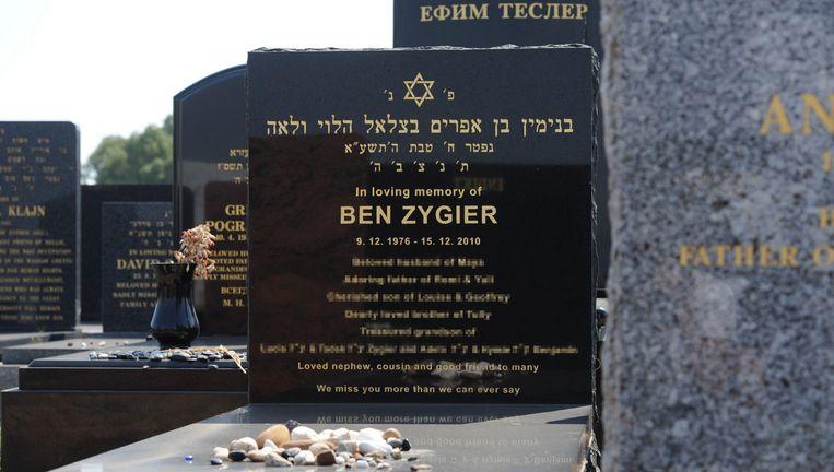 Het graf van Ben Zygier in Melbourne. Beeld EPA