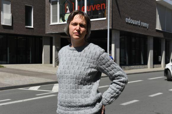 Schepen Bieke Verlinden voor WZC Remy in Leuven.
