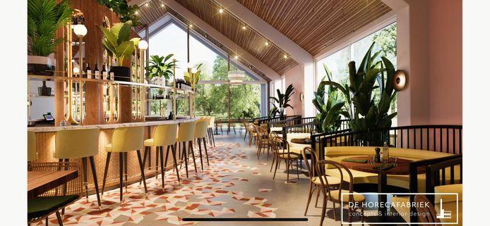Een impressie van het interieur van Brass., het nieuwe grand-café in Nijmegen-Noord