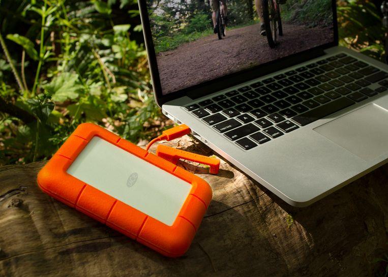 De 'Rugged' SSD van LaCie, een van de bekendste nieuwe externe opslagsystemen.