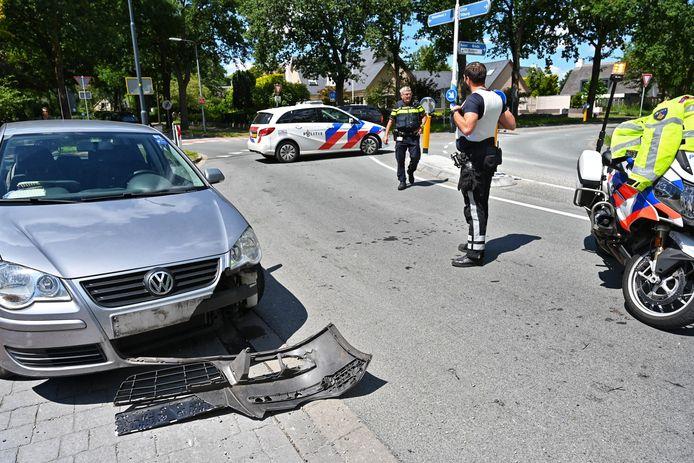 Ongeluk met motorrijder op de Gilzeweg in Breda.
