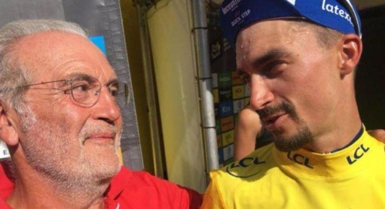 Jo Alaphilippe met Julian vorig jaar in de Tour.