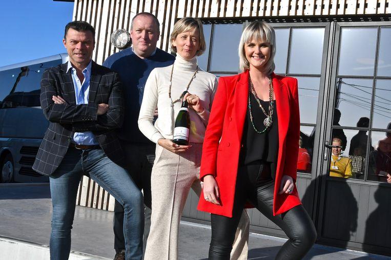 Peter Bruneel en Heidi Huys samen met Filip D'Haeze en Eveline Cannoot, die op 22 december komen optreden.