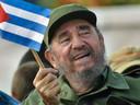 Fidel Castro op 1 mei 2005.