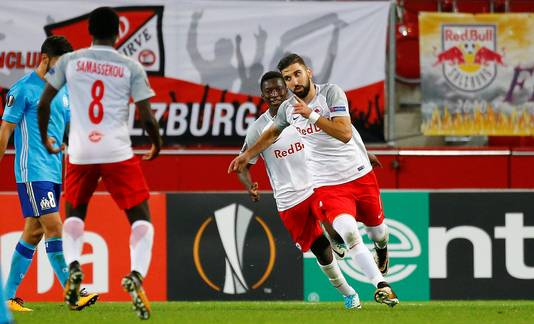 Het Oostenrijkse Red Bull Salzburg won gisteren met 1-0 van Olympique Marseille.