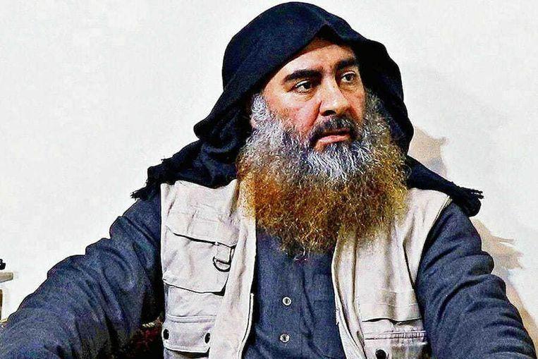 De vorige leider van IS, Abu Bakr al-Baghdadi, die zelfmoord pleegde toen Amerikaanse commando's hem achtervolgden in het Syrische complex waar hij zich bevond. Beeld Getty Images