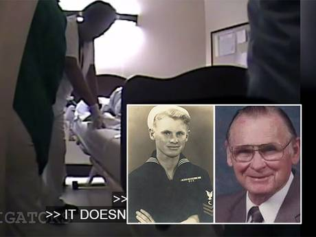 Verpleegsters vertikken het stervende man (89) te helpen en barsten in lachen uit