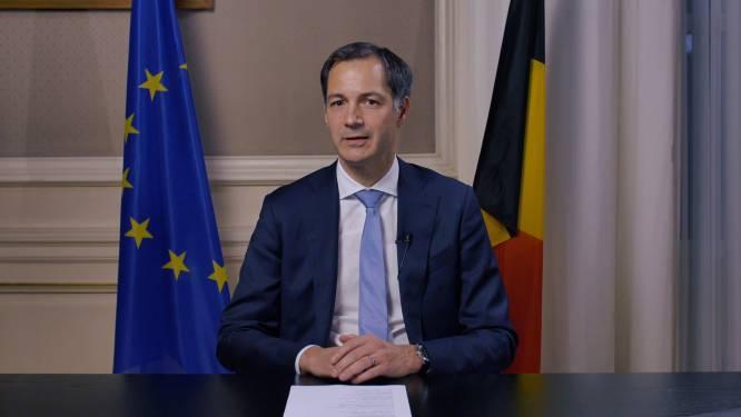 """Premier De Croo spreekt natie toe na week vol regionale bijsturingen: """"Elk uur telt"""""""