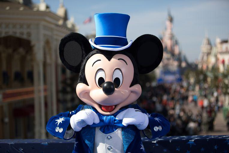 Mickey Mouse in Disneyland Parijs.