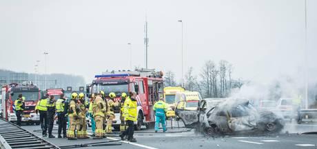 Dode bij ongeval op A27, snelweg in beide richtingen afgesloten