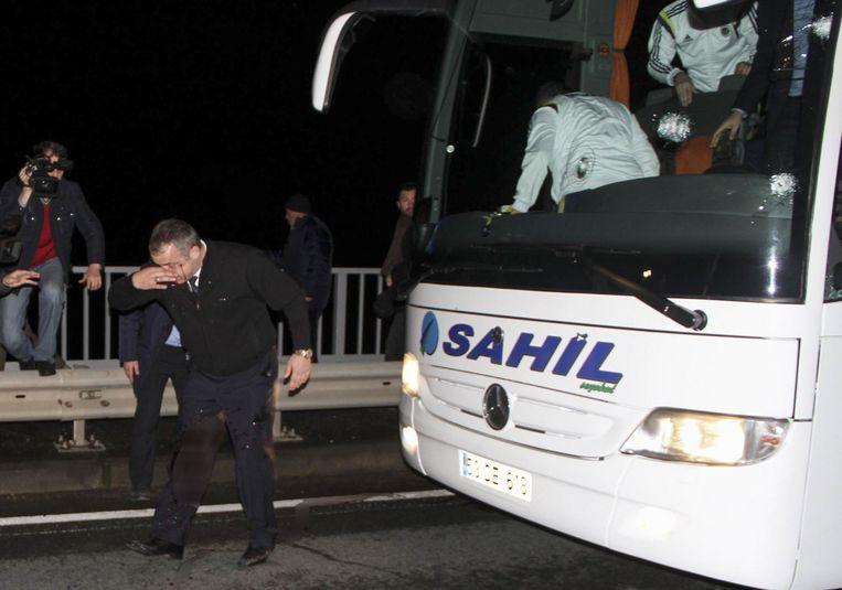 De Fenerbahçe-bus. Beeld epa