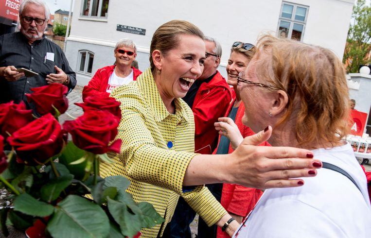 Mette Frederiksen, leider van de sociaaldemocraten Beeld AFP