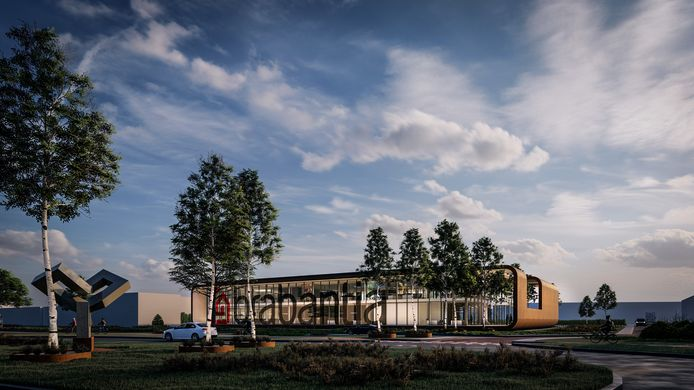 Artist Impression van het nieuw hoofdkantoor van Brabantia dat zal verrijzen op de oude locatie aan de Leenderweg Valkenswaard.
