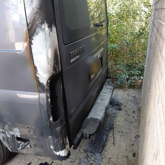De schade aan het voertuig