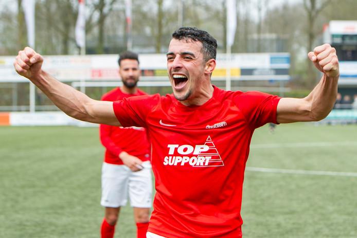 Hakim Ezafzafi maakte voor Excelsior de 0-1.