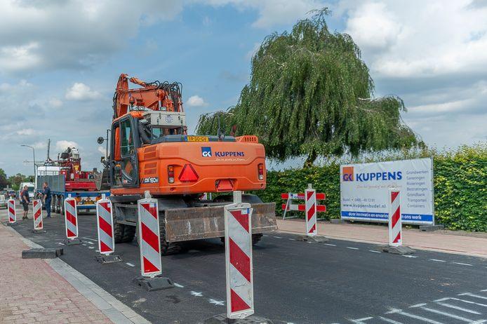 De werkzaamheden aan de Grootschoterweg zijn bijna voltooid.