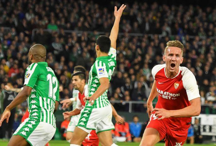 In november van 2019 scoorde Luuk de Jong in de derby van Sevilla