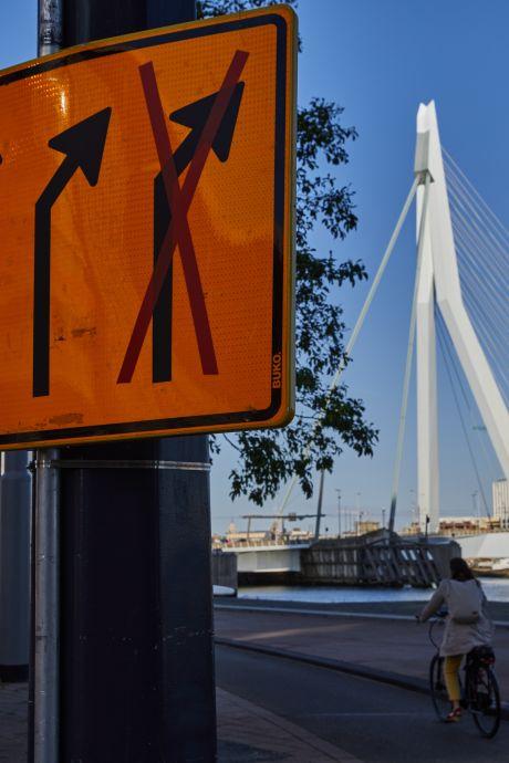 Experiment Erasmusbrug gestaakt: Te veel wegwerkzaamheden rond Wilhelminapier en Katendrecht