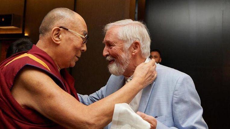 Frans Goetghebeur was de vriend van de dalai lama en haalde hem vijf keer naar ons land. Hij startte over het hele land boeddhistische centra, zoals in Schoten (foto rechts).