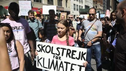 """Wereldwijde klimaatbetogingen stemmen boegbeeld Greta Thunberg """"heel hoopvol"""""""