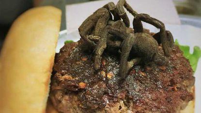 Probeer eens een andere hamburger, zoals deze met... tarantula