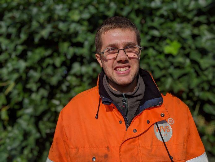 Tim Reuvers, groenwerker in Zevenbergen.
