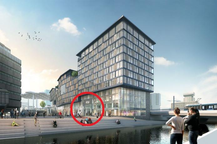 De openstelling van de nieuwe ingang van de Noordertunnel bij het Noordgebouw wordt uitgesteld.
