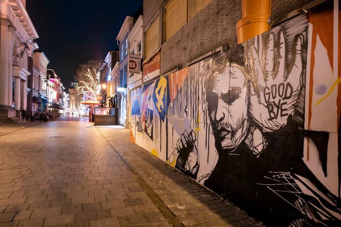 De schildering in de Sint Janstraat in Breda