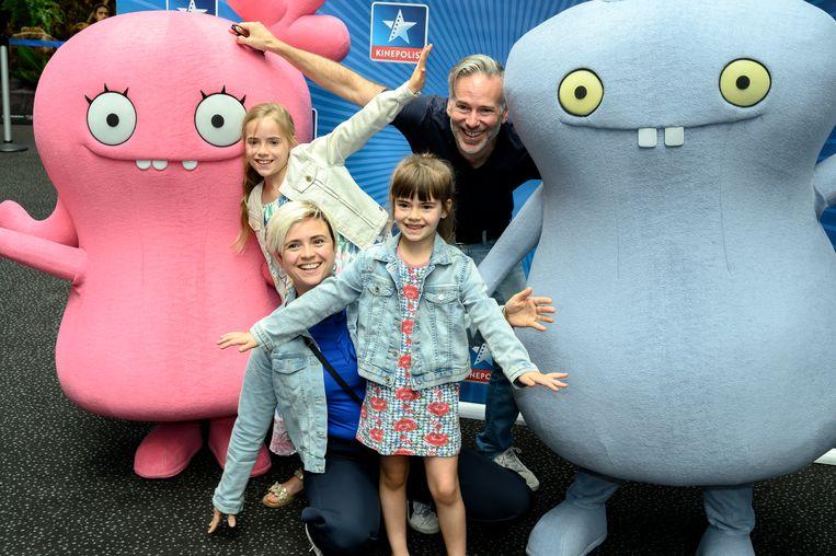 Familie-actrice Marianne Devriese kwam kijken met echtgenoot Steve Geerts en hun oudste dochters Lina en Ava.