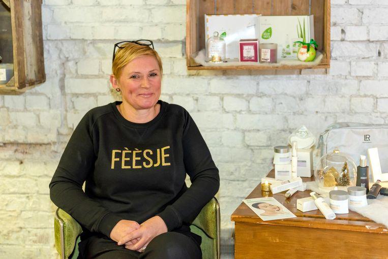 Katrien Claeys in haar winkeltje More Happiness.