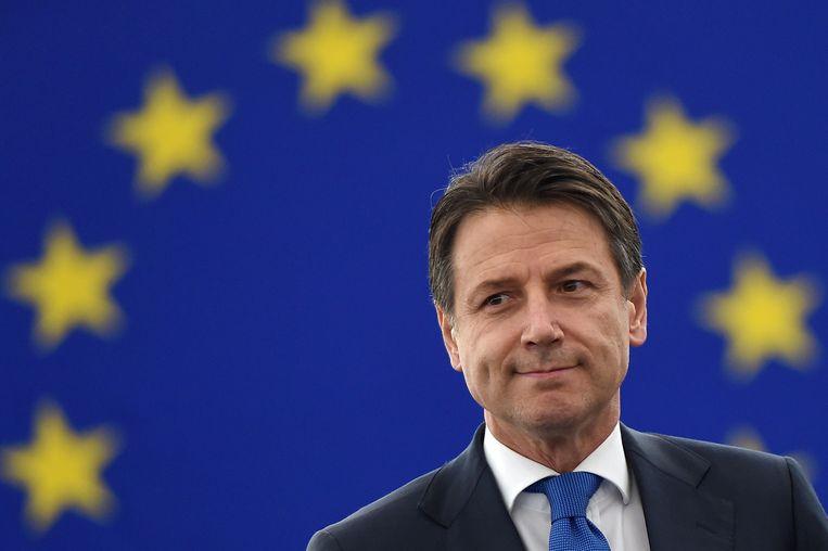 De Italiaanse eerste minister Giuseppe Conte.