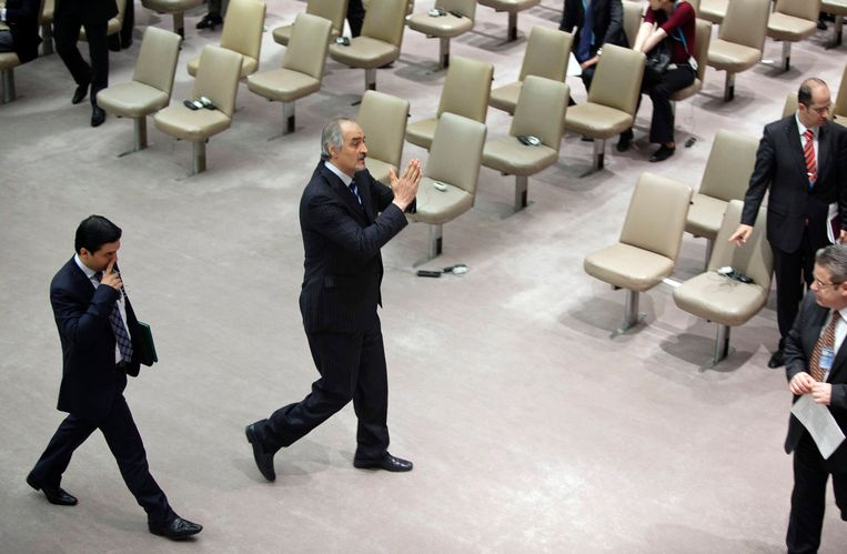 De Syrische ambassadeur bij de VN, Bashar Ja'afari. Beeld reuters