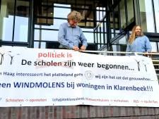 Protest tegen windmolens en zonneparken zet Apeldoorn met rug tegen de muur