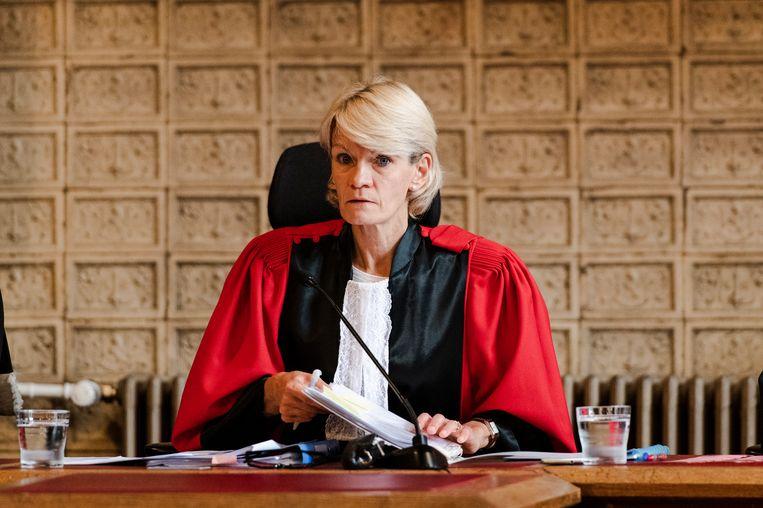 Rechter Martine Baes tijdens het assisenproces tegen Asenov.