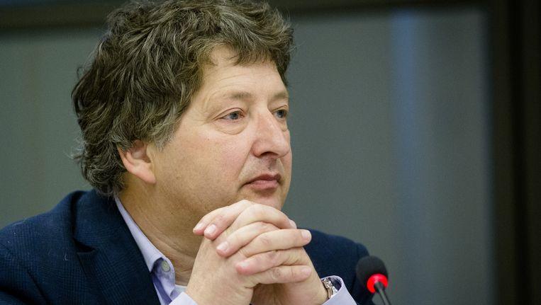 Prof. dr. Micha de Winter (Universiteit Utrecht) tijdens een hoorzitting in de Tweede Kamer over radicalisering, 25 februari 2015. Beeld anp