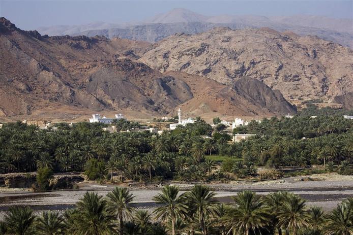Een wadi in Oman.