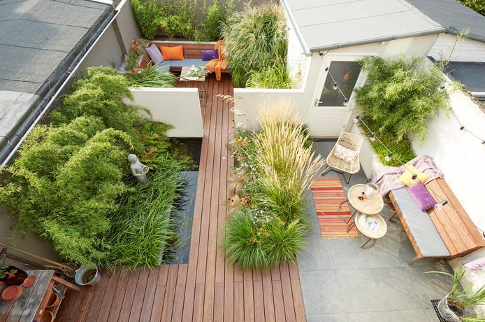 De genomineerde tuin van Robert Walgien en Gerjan Stam in Zwolle.
