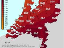 Eindhoven heetste plek van het land met 34,6 graden