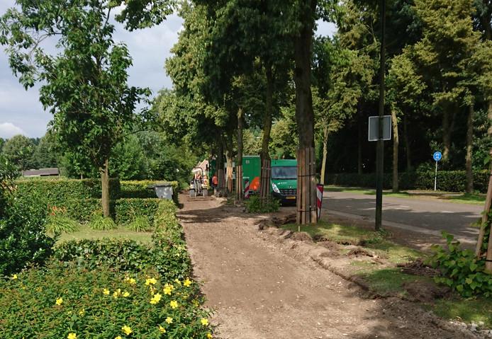BAM is gestart met de vervanging van het fietspad tussen Schaijk en Reek